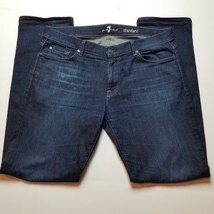 7 FAM Standard Straight Leg Jeans SZ 36x34